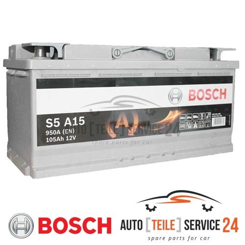 Starterbatterie Bosch 0092S5A150 S5a für Audi Bmw Citroën Fiat Iveco Nissan Opel
