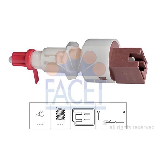 1 Schalter, Kupplungsbetätigung (GRA) FACET 7.1157 Made in Italy - OE Equivalent