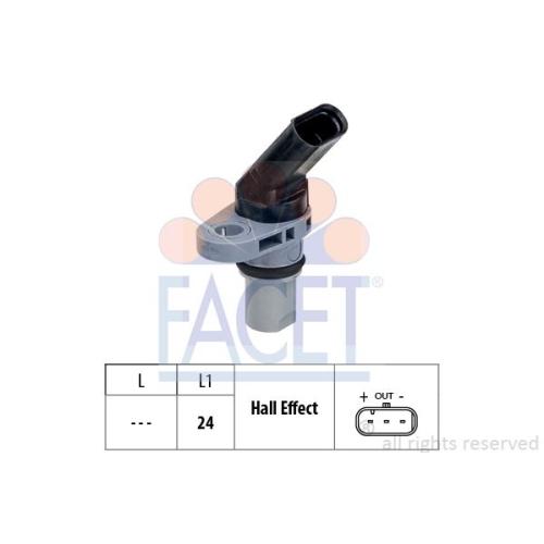 Sensor Drehzahl Facet 9.0778 Made In Italy - Oe Equivalent für Audi Seat Skoda
