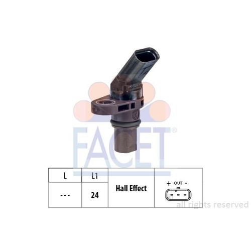 Sensor Drehzahl Facet 9.0773 Made In Italy - Oe Equivalent für Audi Seat Skoda