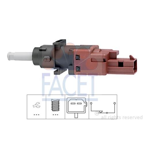 Schalter Kupplungsbetätigung (gra) Facet 7.1170 Made In Italy - Oe Equivalent