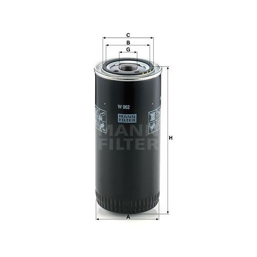 Filter Arbeitshydraulik Mann-filter W 962 für Auwärter Fiat Ford Iveco Saurer VM