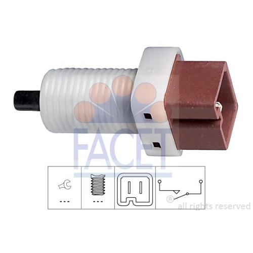 Schalter Kupplungsbetätigung (gra) Facet 7.1192 Made In Italy - Oe Equivalent