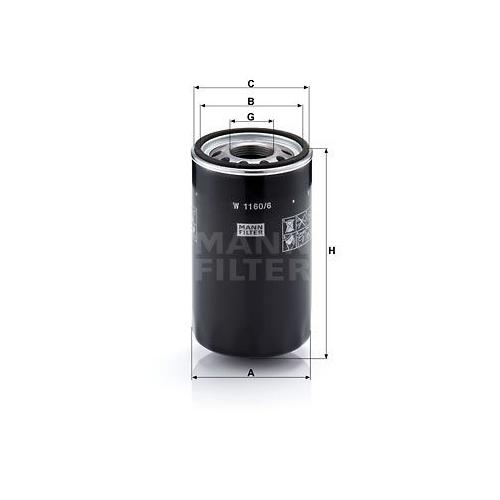 Filter Arbeitshydraulik Mann-filter W 1160/6 für Fiat Case Ih Sperry New Holland
