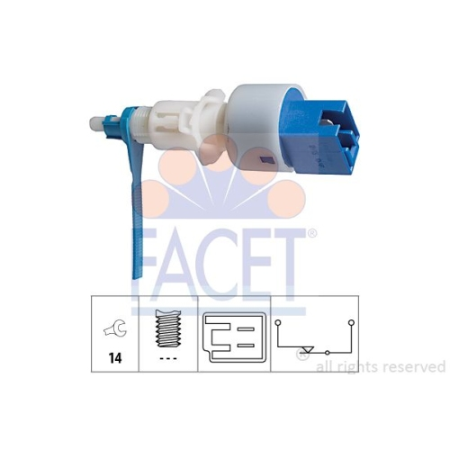 1 Schalter, Kupplungsbetätigung (GRA) FACET 7.1203 Made in Italy - OE Equivalent