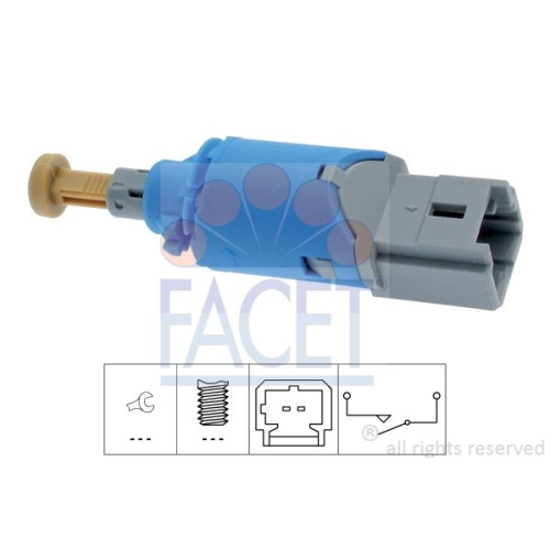 Schalter Kupplungsbetätigung (gra) Facet 7.1224 Made In Italy - Oe Equivalent