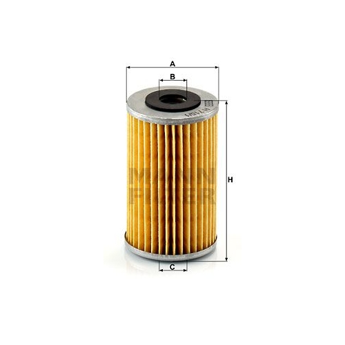 1 Ölfilter MANN-FILTER H 715/1 n FORD GENERAL MOTORS