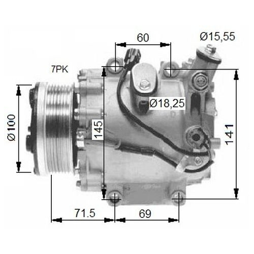 1 Kompressor, Klimaanlage NRF 32491G HONDA