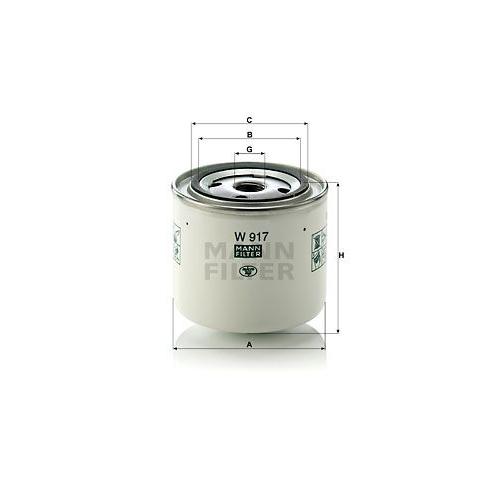 1 Filter, Arbeitshydraulik MANN-FILTER W 917 für FORD OPEL VAUXHALL VOLVO