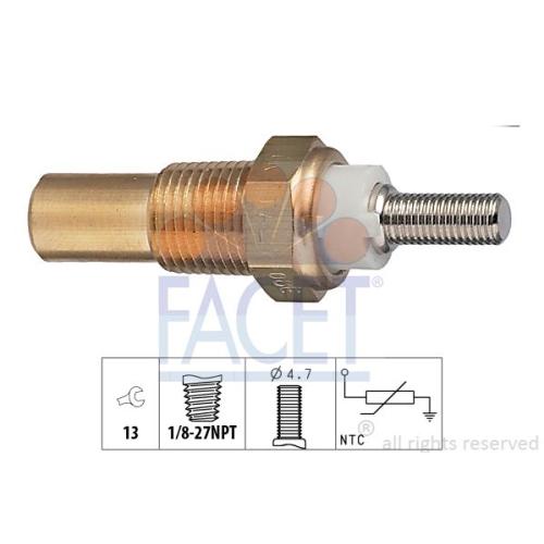 1 Sensor, Kühlmitteltemperatur FACET 7.3010 Made in Italy - OE Equivalent FORD