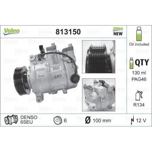 Kompressor, Klimaanlage VALEO 813150 NEUTEIL AUDI SEAT VW