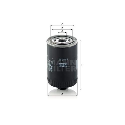 Filter Arbeitshydraulik Mann-filter W 940/5 für Daf Fiat Ford Hanomag Henschel