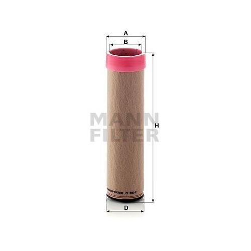 1 Sekundärluftfilter Mann-filter CF 990/2 für Volvo Bomag Case Ih Hitachi Claas