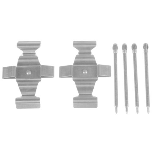 1 Zubehörsatz, Scheibenbremsbelag TRW PFK490 für MERCEDES-BENZ, Vorderachse