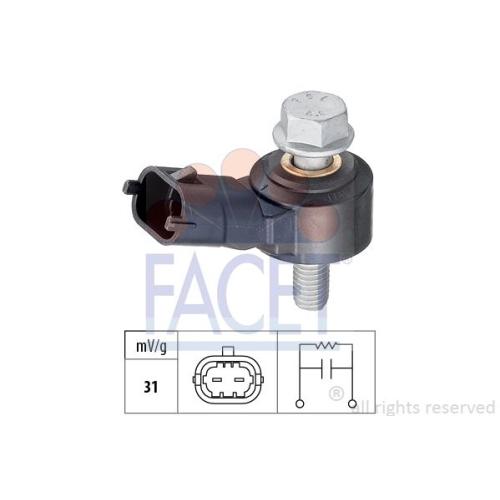 1 Klopfsensor FACET 9.3012 Made in Italy - OE Equivalent für ALFA ROMEO OPEL