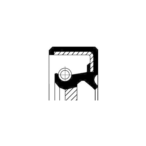 Wellendichtring Kurbelwelle Corteco 12010741B für Ford Stirnseitig