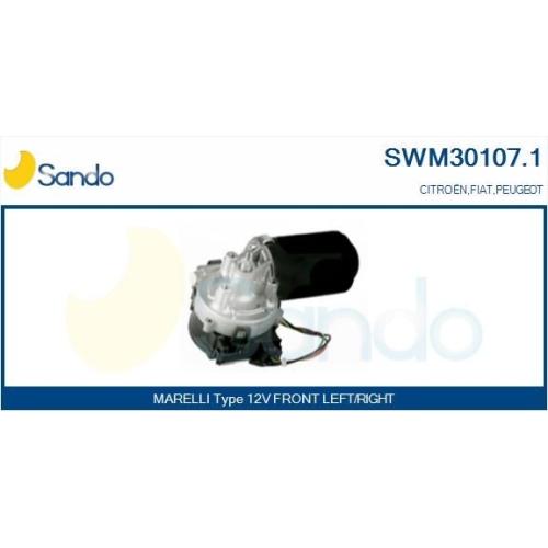 Wischermotor Sando SWM30107.1 für Fiat Vorne