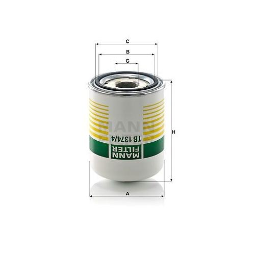 1 Lufttrocknerpatrone, Druckluftanlage MANN-FILTER TB 1374/4 x für MERCEDES-BENZ