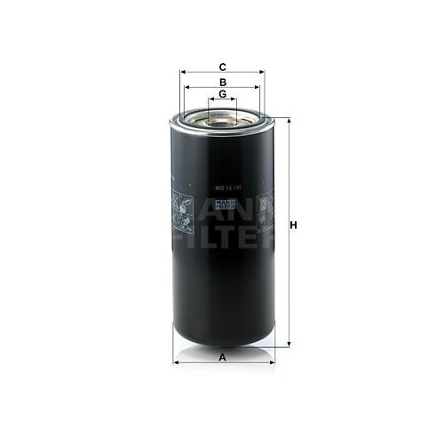 1 Filter, Arbeitshydraulik MANN-FILTER WD 13 145 für HANOMAG HENSCHEL BOMAG