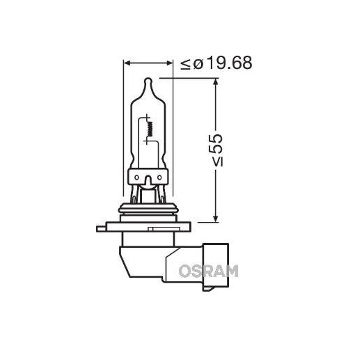 Glühlampe Fernscheinwerfer Osram 9005CBI-HCB Cool Blue Intense für