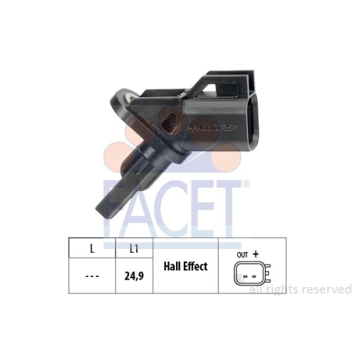 1 Sensor, Raddrehzahl FACET 21.0001 Made in Italy - OE Equivalent für FORD MAZDA