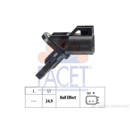 1 Sensor, Raddrehzahl FACET 21.0002 Made in Italy - OE Equivalent für FORD