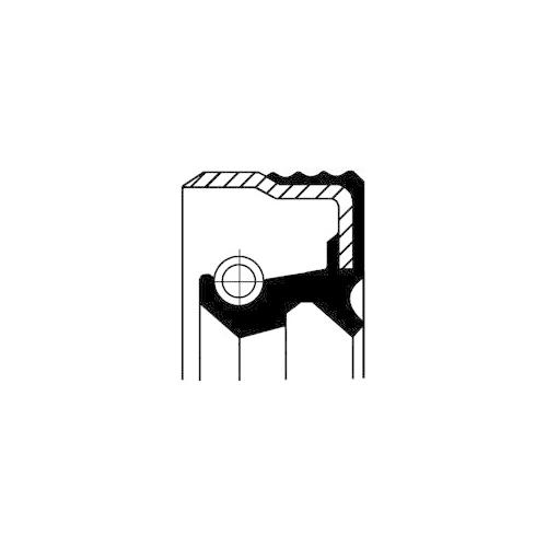 Wellendichtring Einspritzpumpe Corteco 12019583B für Iveco Case Ih