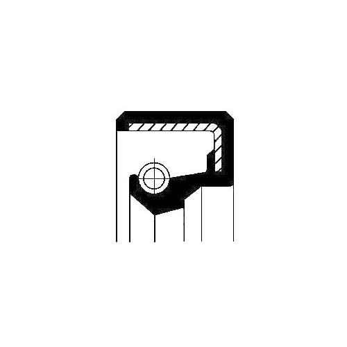 Wellendichtring Einspritzpumpe Corteco 12010819B für Fiat Ford