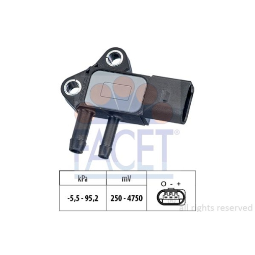 Sensor Abgasdruck Facet 10.3297 Made In Italy - Oe Equivalent für Audi Seat VW