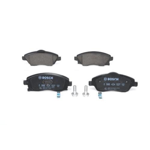4 Bremsbelagsatz, Scheibenbremse BOSCH 0986424527 für OPEL SAAB VAUXHALL HOLDEN
