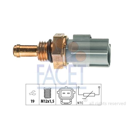 Sensor Kraftstofftemperatur Facet 7.3234 Made In Italy - Oe Equivalent für Ford