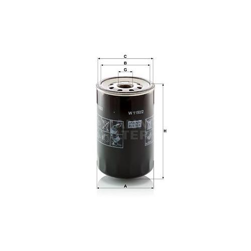 Filter Arbeitshydraulik Mann-filter W 1150/2 für Fiat Isuzu Iveco Mitsubishi Jcb