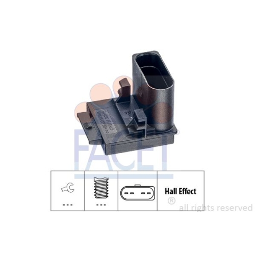 1 Schalter, Kupplungsbetätigung (GRA) FACET 7.1309 Made in Italy - OE Equivalent