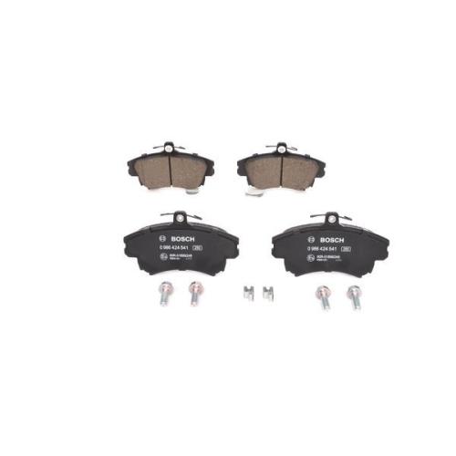 4 Bremsbelagsatz, Scheibenbremse BOSCH 0986424541 für MITSUBISHI VOLVO SMART