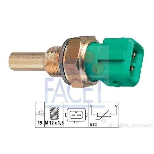 1 Sensor, Kraftstofftemperatur FACET 7.3244 Made in Italy - OE Equivalent
