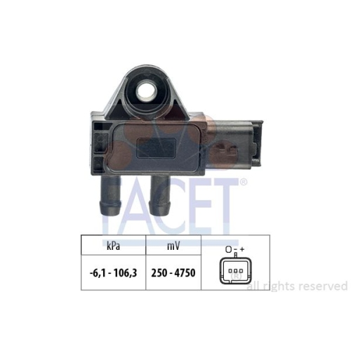 1 Sensor, Abgasdruck FACET 10.3271 Made in Italy - OE Equivalent für CITROËN DS