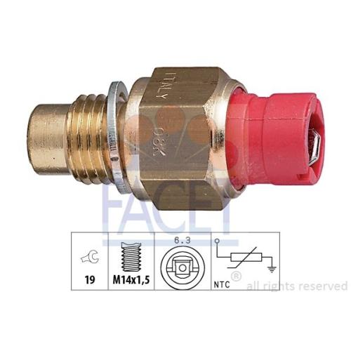 1 Sensor, Öltemperatur FACET 7.3267 Made in Italy - OE Equivalent ALFA ROMEO
