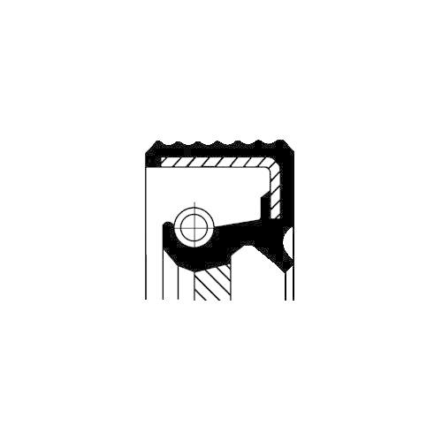 Wellendichtring Verteilergetriebe Corteco 01035172B für Bmw Ausgang Hinten Innen