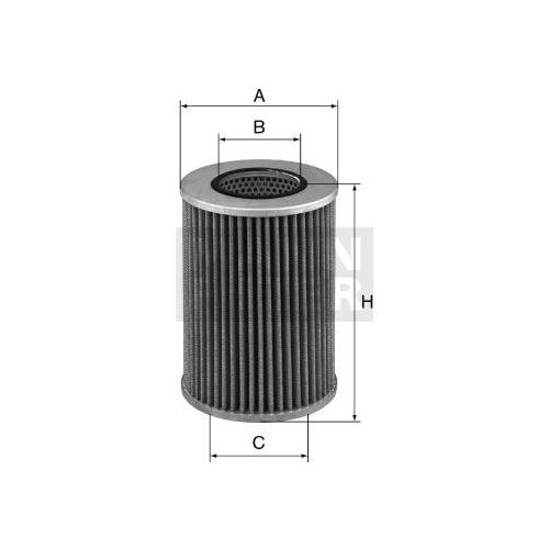 1 Filter Arbeitshydraulik Mann-filter HD 1258/2 für