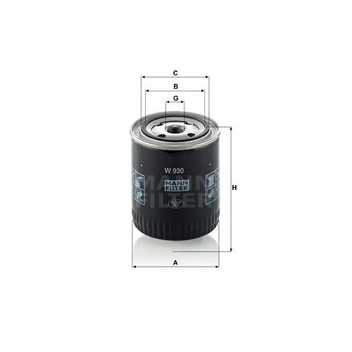 Filter Arbeitshydraulik Mann-filter W 930 für Fiat Mazda Peugeot Renault Steyr