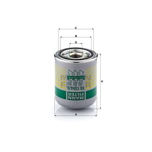 1 Lufttrocknerpatrone, Druckluftanlage MANN-FILTER TB 1394/6 x für DAF