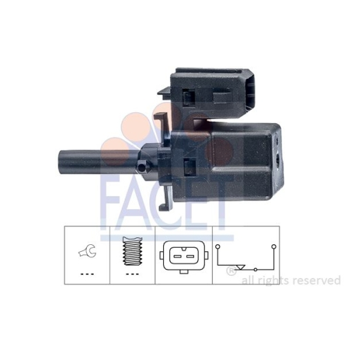 Schalter Kupplungsbetätigung (gra) Facet 7.1188 Made In Italy - Oe Equivalent