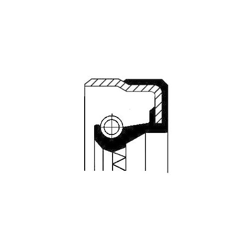 Wellendichtring, Differential CORTECO 01036481B für FORD