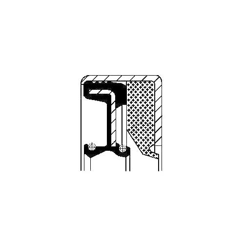 Wellendichtring, Differential CORTECO 12012107B für RENAULT CASE IH CLAAS DANA