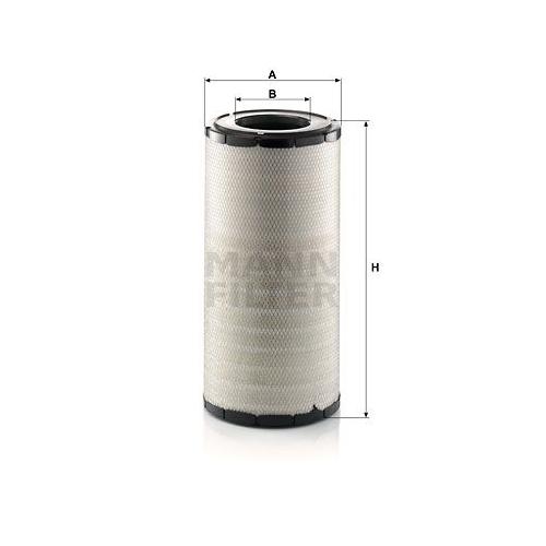 1 Luftfilter MANN-FILTER C 28 1580 DAF CASE IH MASSEY FERGUSON VDL