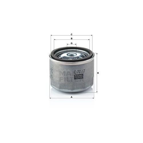 1 Luftfilter, Turbolader MANN-FILTER C 77/7 für IVECO CASE IH IRISBUS