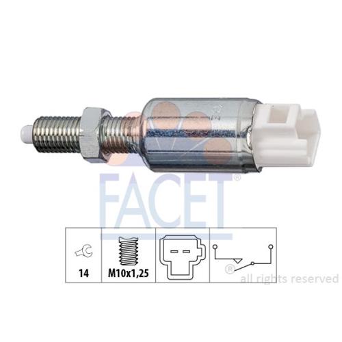 Schalter Kupplungsbetätigung (gra) Facet 7.1259 Made In Italy - Oe Equivalent