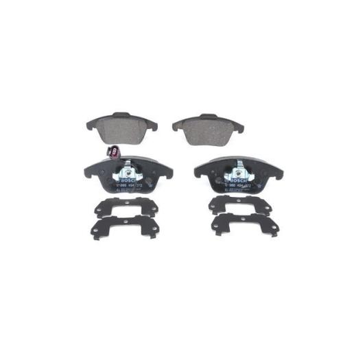 4 Bremsbelagsatz, Scheibenbremse BOSCH 0986494372 für AUDI VW, Vorderachse