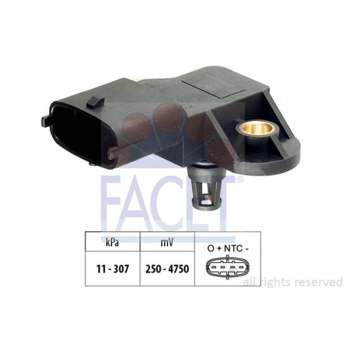 Luftdrucksensor Höhenanpassung Facet 10.3082 Made In Italy - Oe Equivalent für