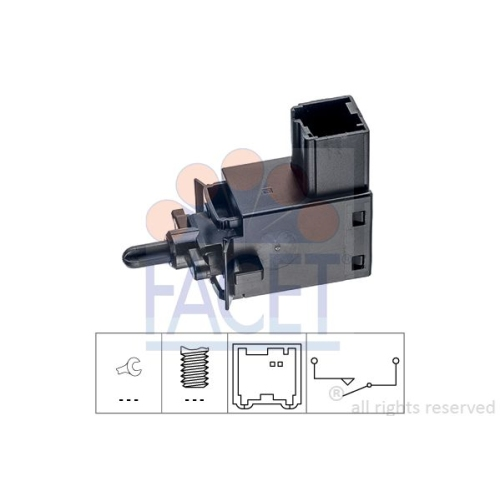 1 Schalter, Kupplungsbetätigung (GRA) FACET 7.1242 Made in Italy - OE Equivalent